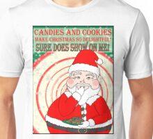 Candies and Cookies Funny Christmas Santa haiku Unisex T-Shirt