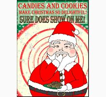 Candies and Cookies Funny Christmas Santa haiku Unisex T-Shirt