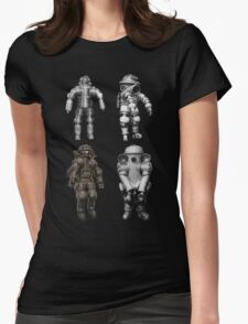 Retro Vintage Deep Sea Diver Collection Womens Fitted T-Shirt