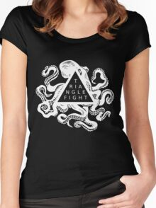 Triangle Fight Octo-Logo Women's Fitted Scoop T-Shirt