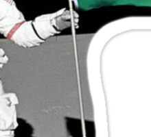 Kappa Delta Man on Moon Sticker