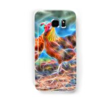 Abstract Rooster and Hens Samsung Galaxy Case/Skin