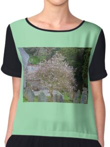 Soft Magnolia blooms compliment the Gravestones... Chiffon Top