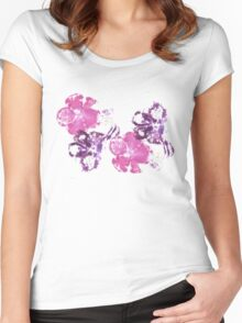 Pink and Purple Women's Fitted Scoop T-Shirt