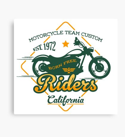 Riders California Canvas Print