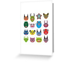 Monster set Greeting Card