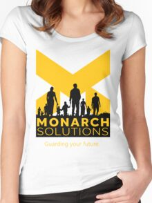 "Quantum Break - Monarch Solutions ""Guarding Your Future"" Women's Fitted Scoop T-Shirt"