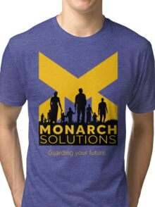 "Quantum Break - Monarch Solutions ""Guarding Your Future"" Tri-blend T-Shirt"