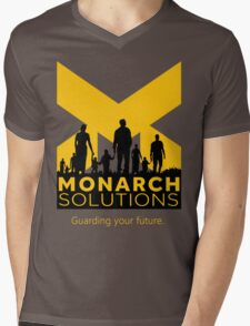 "Quantum Break - Monarch Solutions ""Guarding Your Future"" Mens V-Neck T-Shirt"