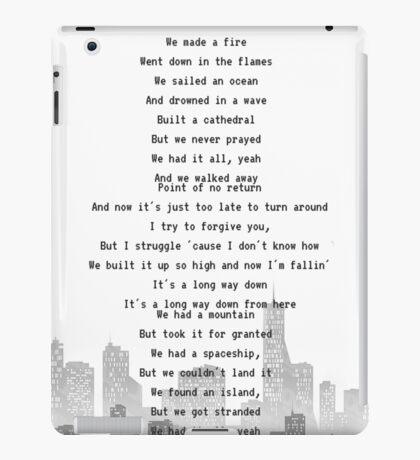 One Direction - Long Way Down iPad Case/Skin