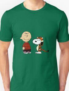 calvin and hobbes meets peanuts T-Shirt