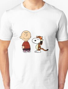 calvin and hobbes meets peanuts T-Shirt