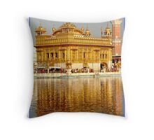 Golden Temple 2 Throw Pillow