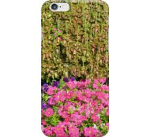 Natural background with many colorful plants. iPhone Case/Skin