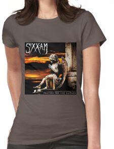SIXX AM PRAYERS TOUR ALBUMS 2016 Womens Fitted T-Shirt