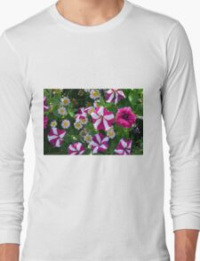 Flowers with white and purple colors. T-Shirt