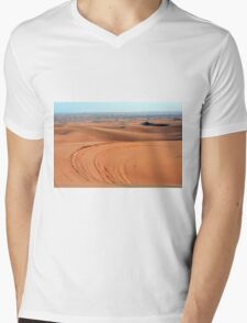 Sand dunes in the desert. Mens V-Neck T-Shirt