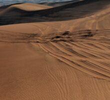 Sand dunes in the desert. Sticker