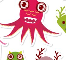 Funny monsters Sticker