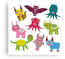 Funny monsters Canvas Print