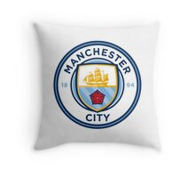 manchester city new crest Throw Pillow
