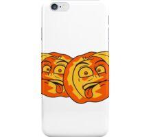 fruit comic cartoon face disgust funny team buddies peach tasty couple iPhone Case/Skin