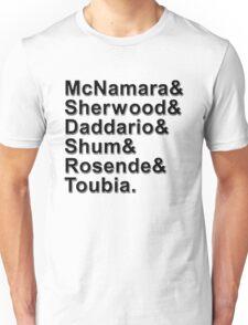 Shadowhunters Names Unisex T-Shirt