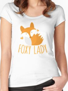 Foxy lady super cute kawaii foxy Women's Fitted Scoop T-Shirt