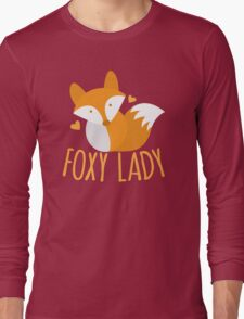 Foxy lady super cute kawaii foxy Long Sleeve T-Shirt