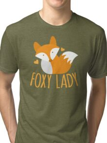 Foxy lady super cute kawaii foxy Tri-blend T-Shirt