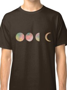 handdrawn watercolor phases of moon Classic T-Shirt