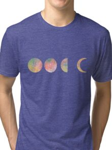 handdrawn watercolor phases of moon Tri-blend T-Shirt