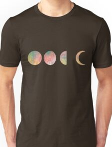 handdrawn watercolor phases of moon Unisex T-Shirt