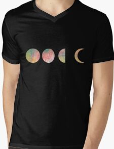 handdrawn watercolor phases of moon T-Shirt