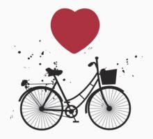 Bikes and hearts Kids Tee