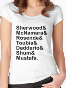 Shadowhunters Cast Names Women's Fitted Scoop T-Shirt