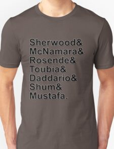Shadowhunters Cast Names Unisex T-Shirt