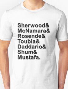 Shadowhunters Cast Names Unisex T-Shirt