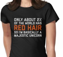 Red Hair Funny Quote Womens Fitted T-Shirt