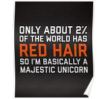 Red Hair Funny Quote Poster