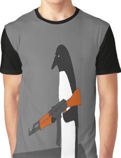 Crazy Penguin Graphic T-Shirt
