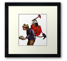 Who are you to wave your finger? Framed Print