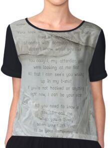 One Direction - Temporary Fix Chiffon Top