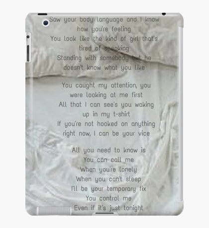 One Direction - Temporary Fix iPad Case/Skin