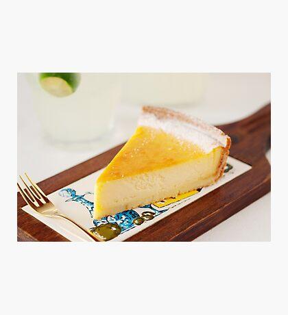 Baked Cheesecake Photographic Print