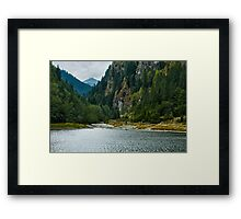 Beautiful view of a mountain lake Framed Print