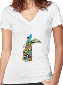 Musky Women's Fitted V-Neck T-Shirt