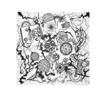 Circles & Squares Aussie Tangle BW only  Scarf