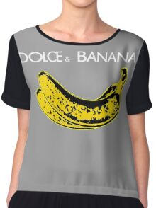 Dolce & Banana - Bananas Lovers Fruitarians Vegan Fashion  Tee / Sticker Chiffon Top