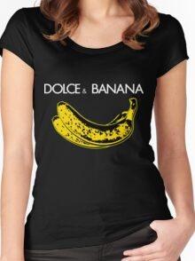 Dolce & Banana - Bananas Lovers Fruitarians Vegan Fashion  Tee / Sticker Women's Fitted Scoop T-Shirt